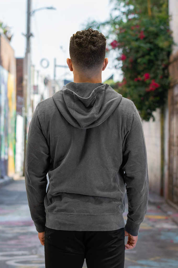 3sixteen for Self Edge Garment Dyed French Terry - Zip Hoodie - Image 3