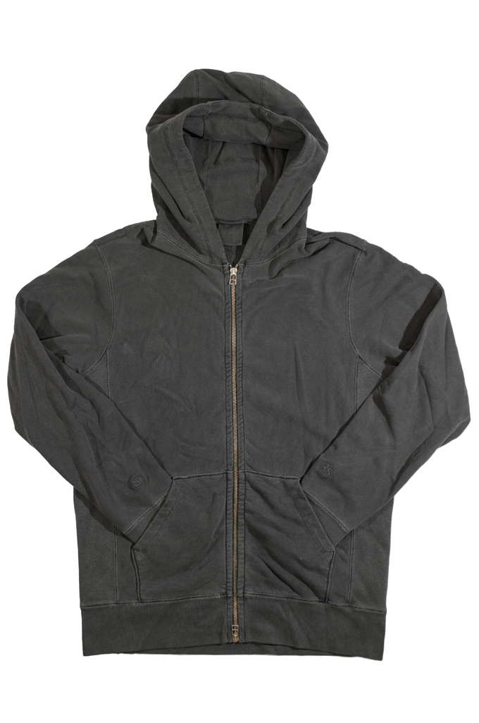 3sixteen for Self Edge Garment Dyed French Terry - Zip Hoodie - Image 4