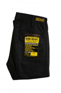 Iron Heart Selvedge Chinos IH-721 - Slim Cut Black - Image 3
