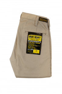 Iron Heart Selvedge Chinos IH-721 - Slim Cut Khaki - Image 3