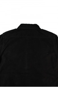 Iron Heart Heavy Moleskin CPO Overshirt - Black (Self Edge Exclusive)  - Image 9