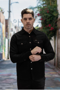Iron Heart Heavy Moleskin CPO Overshirt - Black (Self Edge Exclusive)  - Image 1