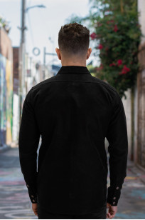 Iron Heart Heavy Moleskin CPO Overshirt - Black (Self Edge Exclusive)  - Image 3