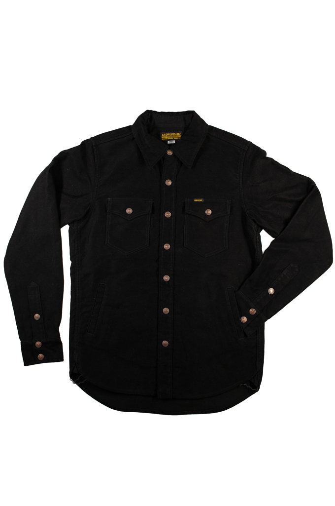 Iron Heart Heavy Moleskin CPO Overshirt - Black (Self Edge Exclusive)  - Image 4