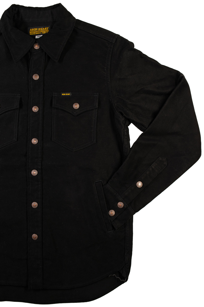 Iron Heart Heavy Moleskin CPO Overshirt - Black (Self Edge Exclusive)  - Image 5