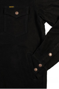 Iron Heart Heavy Moleskin CPO Overshirt - Black (Self Edge Exclusive)  - Image 6