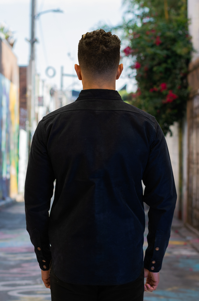 Iron Heart Heavy Moleskin CPO Overshirt - Navy - Image 3
