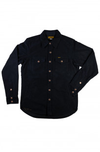 Iron Heart Heavy Moleskin CPO Overshirt - Navy - Image 4