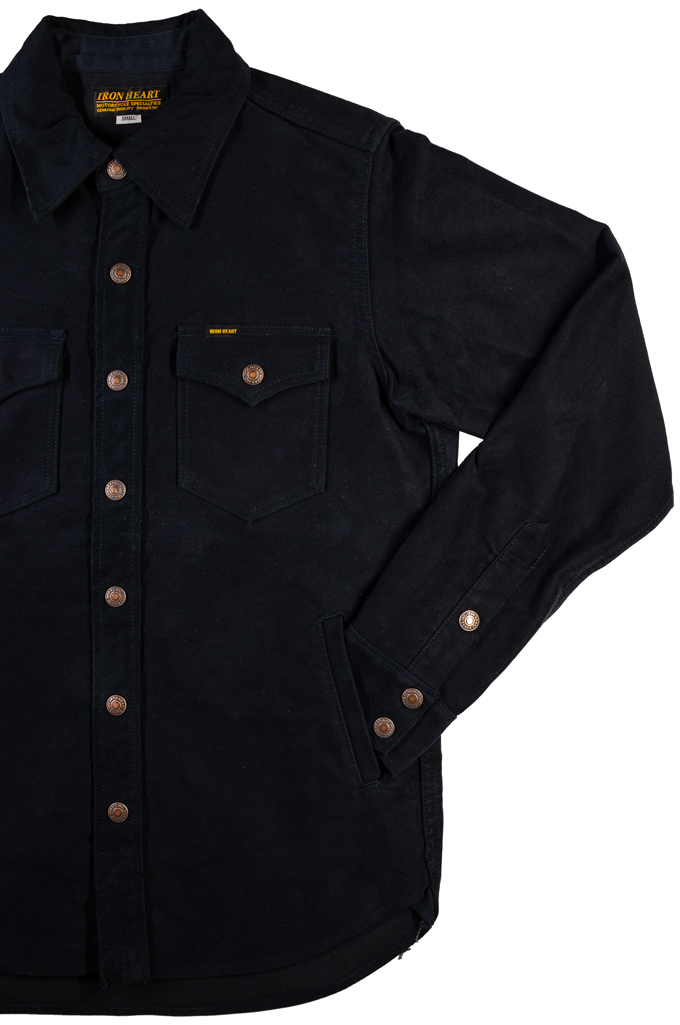 Iron Heart Heavy Moleskin CPO Overshirt - Navy - Image 5