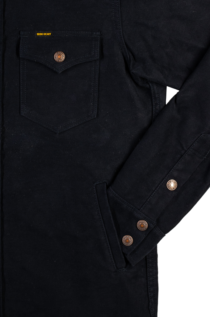 Iron Heart Heavy Moleskin CPO Overshirt - Navy - Image 6