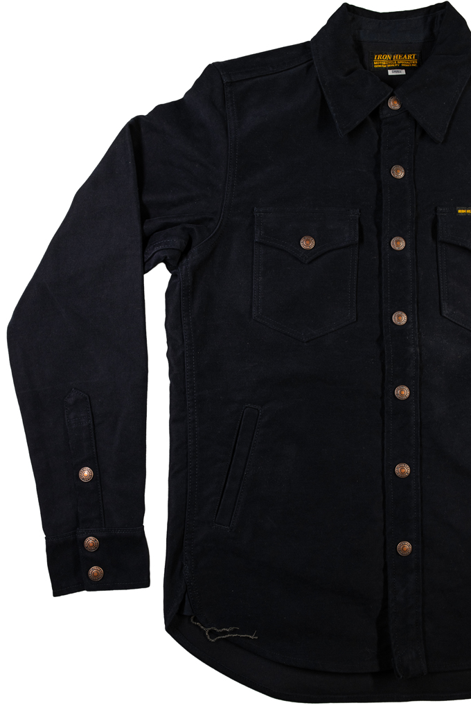 Iron Heart Heavy Moleskin CPO Overshirt - Navy - Image 7
