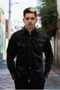 Stevenson Cody Snap Shirt - Dark Charcoal Corduroy - Image 0