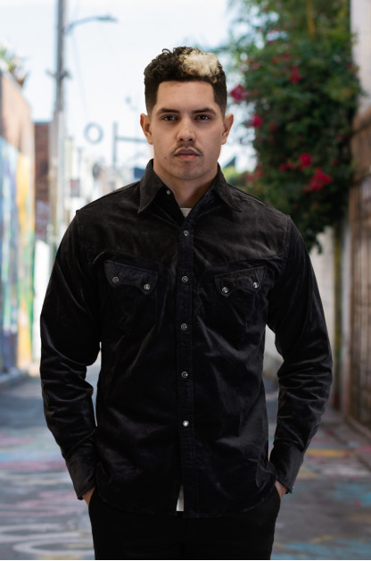 Stevenson Cody Snap Shirt - Dark Charcoal Corduroy