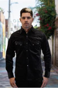 Stevenson Cody Snap Shirt - Dark Charcoal Corduroy - Image 2