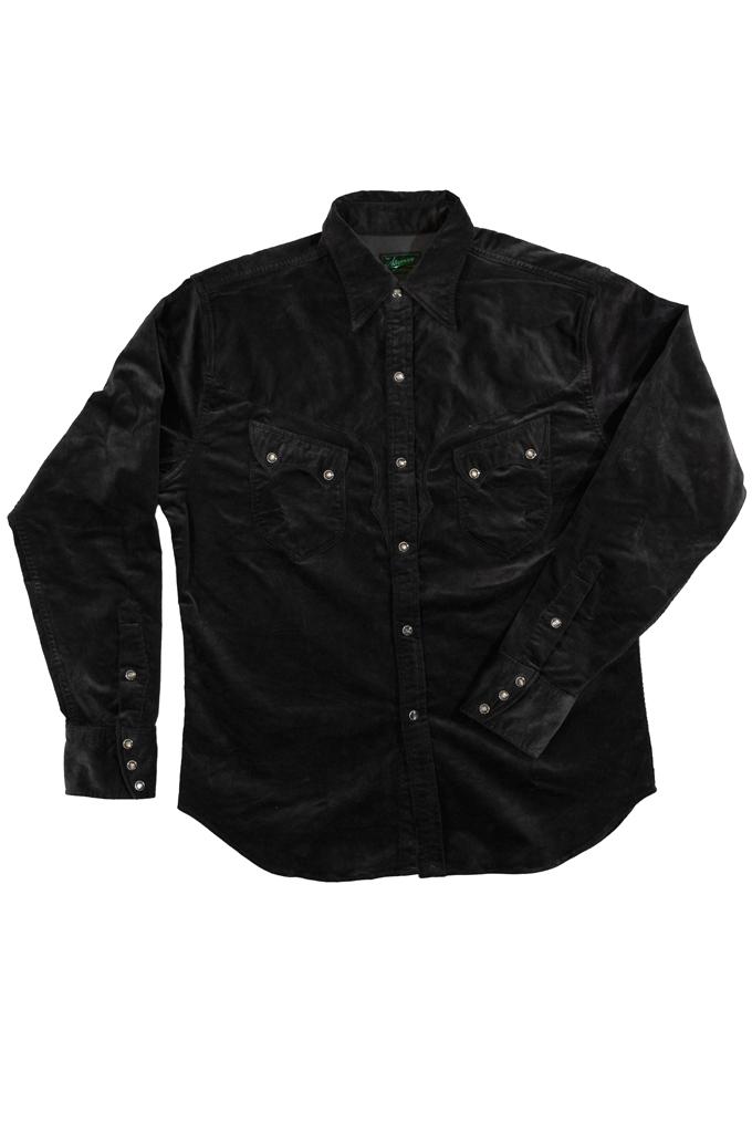 Stevenson Cody Snap Shirt - Dark Charcoal Corduroy - Image 4