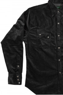 Stevenson Cody Snap Shirt - Dark Charcoal Corduroy - Image 5