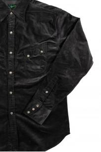 Stevenson Cody Snap Shirt - Dark Charcoal Corduroy - Image 6