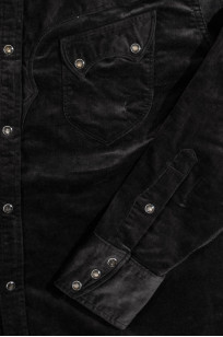 Stevenson Cody Snap Shirt - Dark Charcoal Corduroy - Image 7