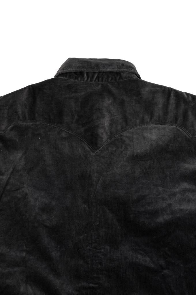 Stevenson Cody Snap Shirt - Dark Charcoal Corduroy - Image 8