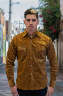 Stevenson Cody Snap Shirt - Khaki Corduroy - Image 0