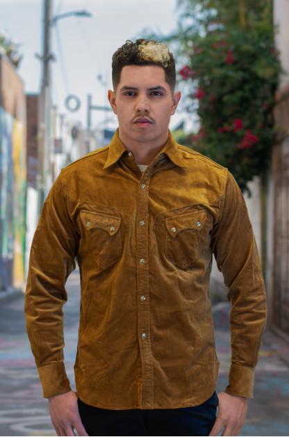 Stevenson Cody Snap Shirt - Khaki Corduroy