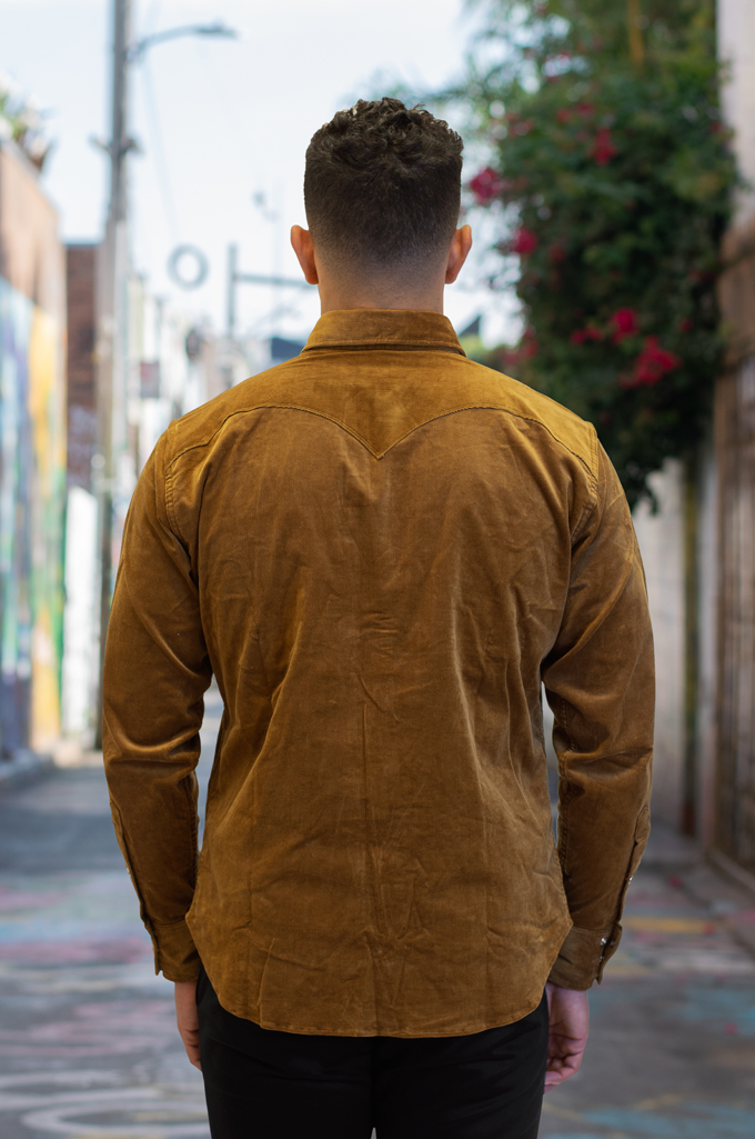 Stevenson Cody Snap Shirt - Khaki Corduroy - Image 2