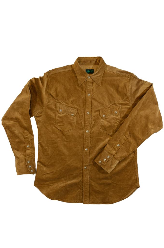 Stevenson Cody Snap Shirt - Khaki Corduroy - Image 3