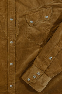 Stevenson Cody Snap Shirt - Khaki Corduroy - Image 5