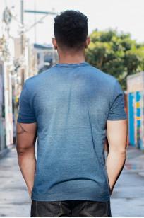 Pure Blue Japan Yarn-Dyed Indigo T-Shirt - Sunburned Indigo - Image 2