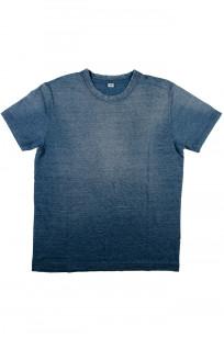 Pure Blue Japan Yarn-Dyed Indigo T-Shirt - Sunburned Indigo - Image 3