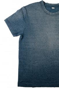 Pure Blue Japan Yarn-Dyed Indigo T-Shirt - Sunburned Indigo - Image 4