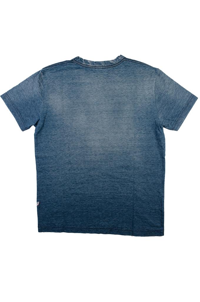 Pure Blue Japan Yarn-Dyed Indigo T-Shirt - Sunburned Indigo - Image 5