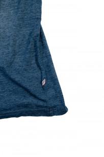 Pure Blue Japan Yarn-Dyed Indigo T-Shirt - Sunburned Indigo - Image 6