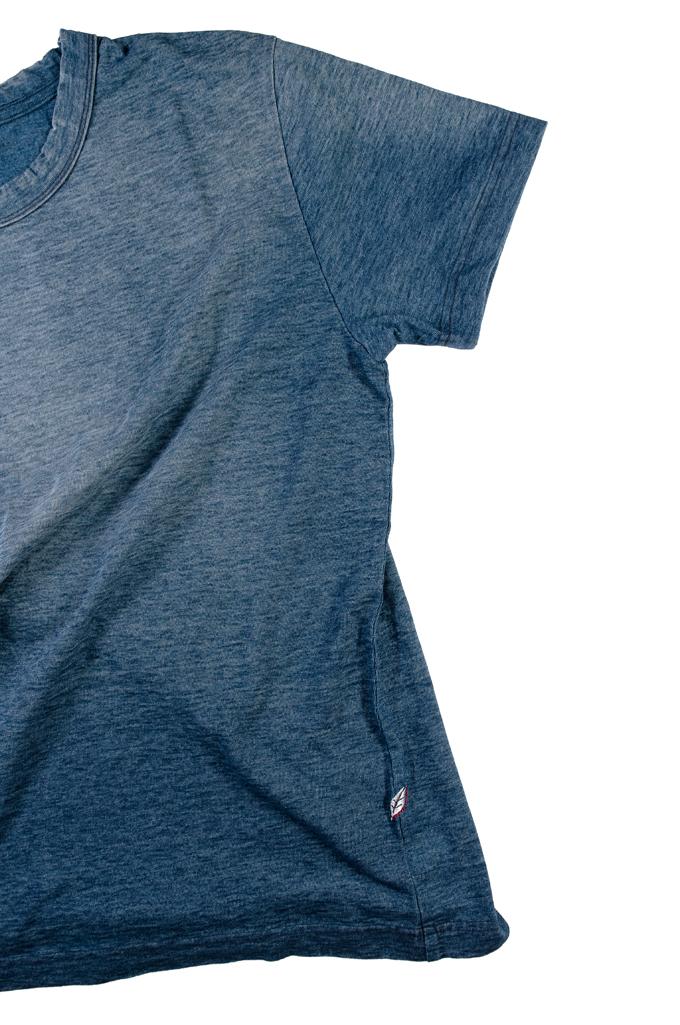 Pure Blue Japan Yarn-Dyed Indigo T-Shirt - Sunburned Indigo - Image 7