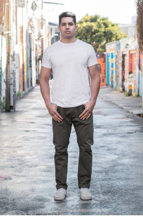 Pure Blue Japan Selvedge Twill Chinos - Olive - Image 0