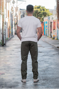 Pure Blue Japan Selvedge Twill Chinos - Olive - Image 2