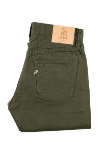 Pure Blue Japan Selvedge Twill Chinos - Olive - Image 3