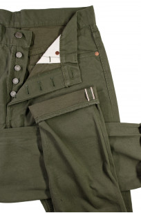 Pure Blue Japan Selvedge Twill Chinos - Olive - Image 6
