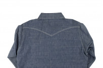Iron Heart 10oz Selvedge Chambray Snap Buttoned Shirt - Image 9