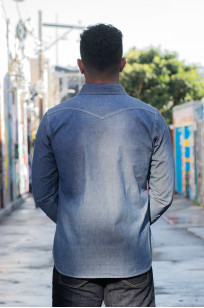 Iron Heart 10oz Selvedge Chambray Snap Buttoned Shirt - Image 2