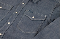 Iron Heart 10oz Selvedge Chambray Snap Buttoned Shirt - Image 6