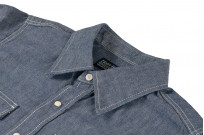 Iron Heart 10oz Selvedge Chambray Snap Buttoned Shirt - Image 7