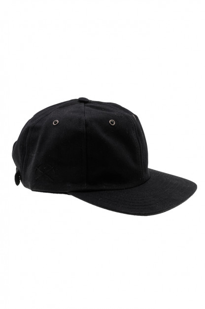 3sixteen Baseball Cap - Waxed Canvas Black