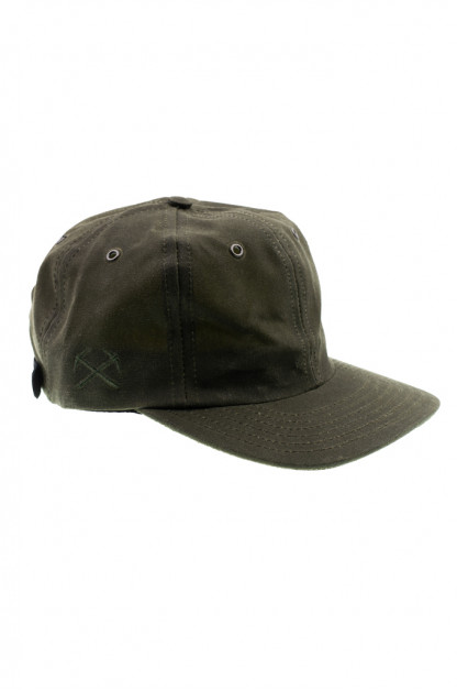 3sixteen Baseball Cap - Waxed Canvas Olive