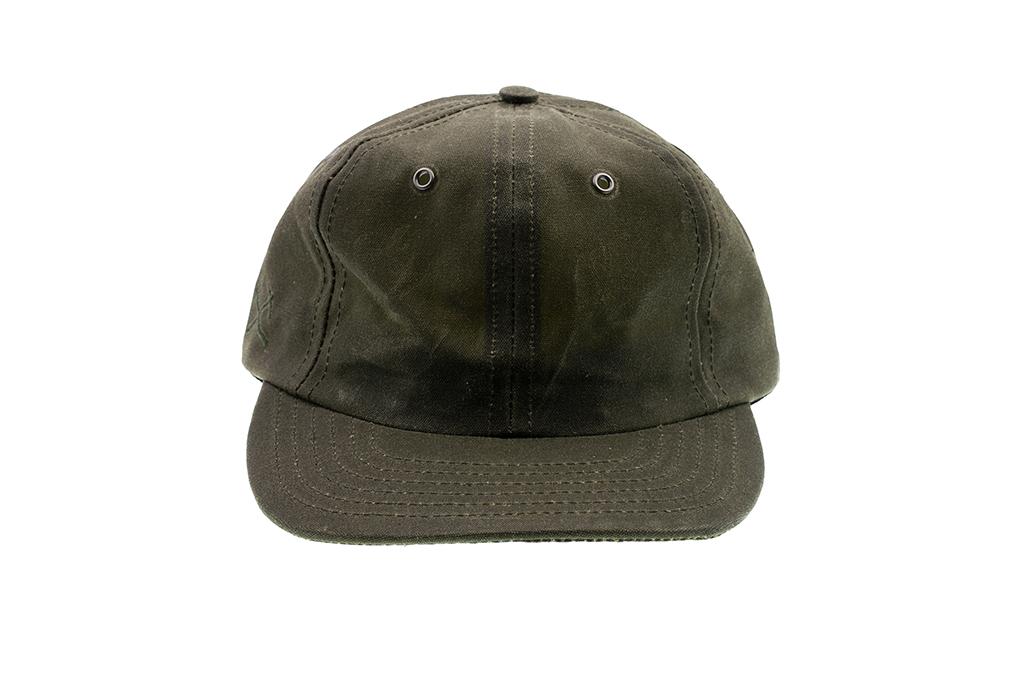 3sixteen Baseball Cap - Waxed Canvas Olive - Image 2