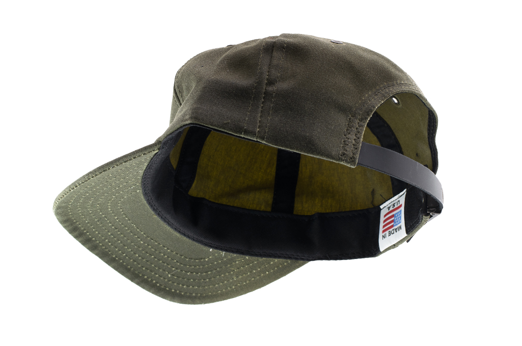 3sixteen Baseball Cap - Waxed Canvas Olive - Image 3