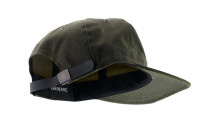 3sixteen Baseball Cap - Waxed Canvas Olive - Image 4