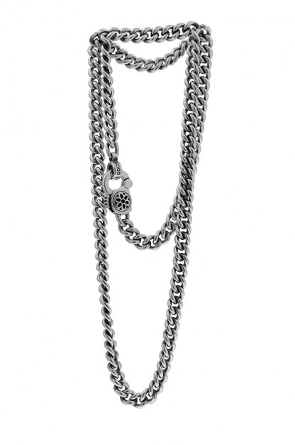Good Art #3 Curb Chain Necklace w/ Rosette Clip