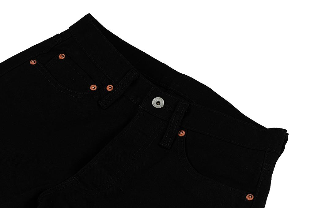 Iron Heart 633s-14BB - Straight Tapered Black/Black Denim - Image 7