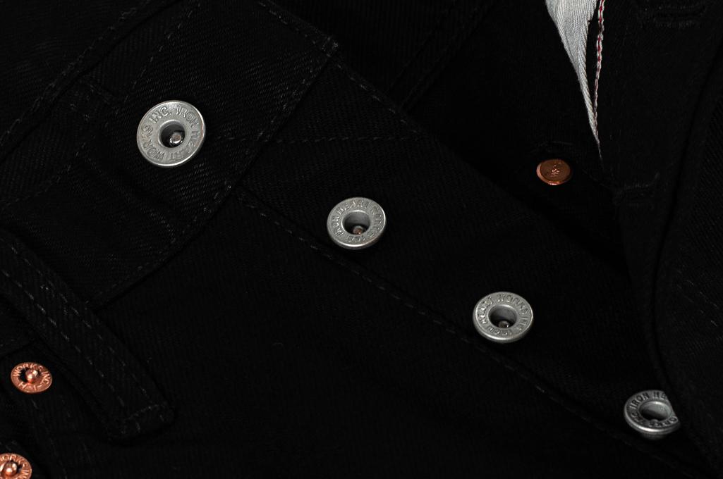 Iron Heart 633s-14BB - Straight Tapered Black/Black Denim - Image 8